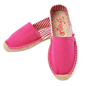 Hot Pink Two Tone Espadrille