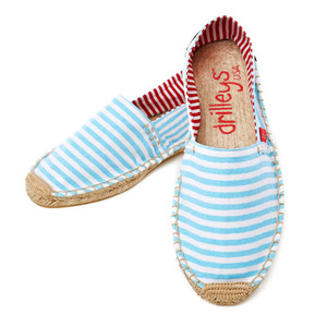 Chambray Blue Wide Stripe Espadrille
